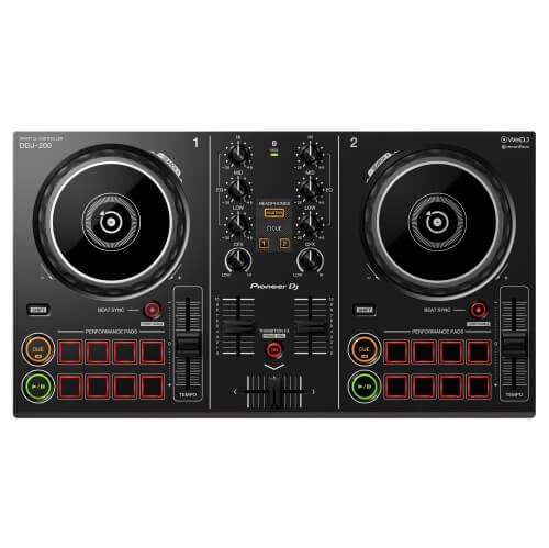 Pioneer DDJ 200 - best dj controller that works with ipad iphone android