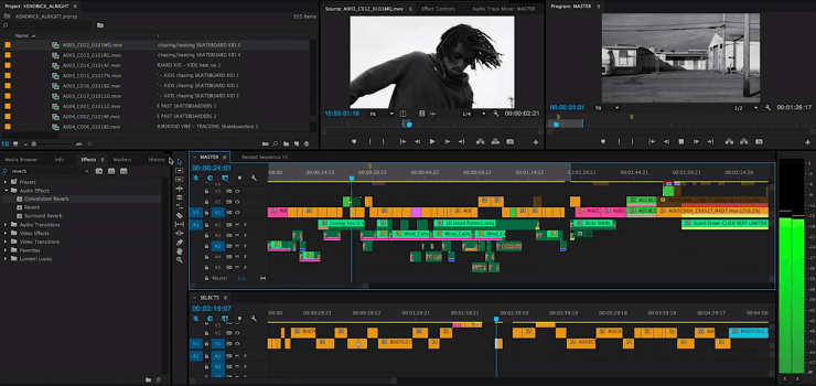 editing a music video after filming