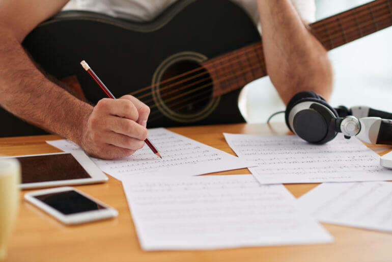 writing lyrics for the song