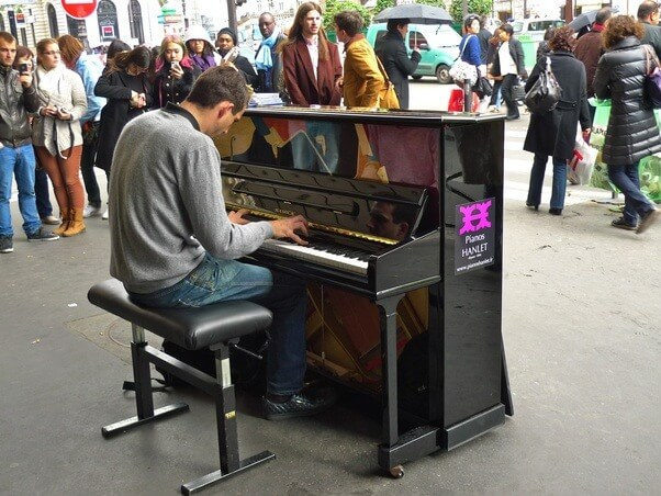 don't be afraid to play the piano in public