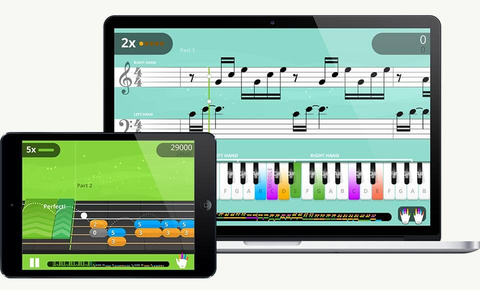 try yousician to become a better piano player