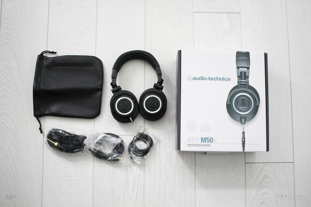 audio technica ath-m50x unboxing