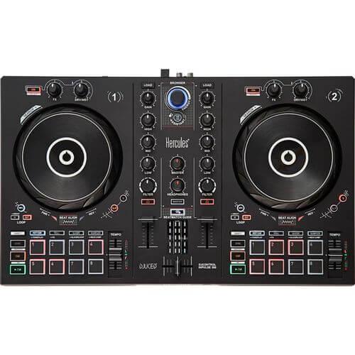 Hercules DJ Control Inpulse 300 - best starter dj controller with large jog wheels and xlr outputs
