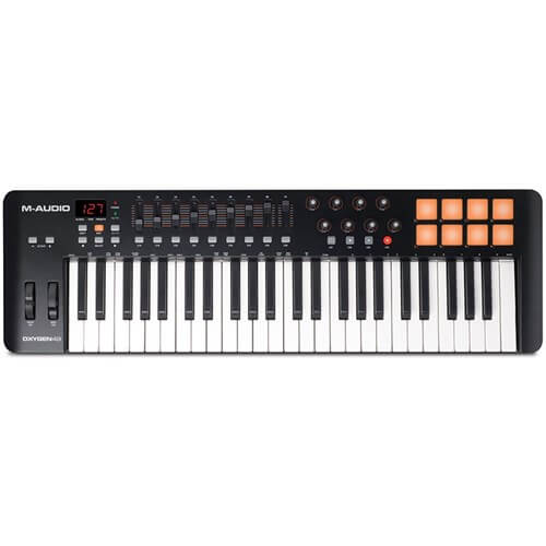 M-Audio Oxygen 49 MK IV - best midi keyboard for live performance under 200