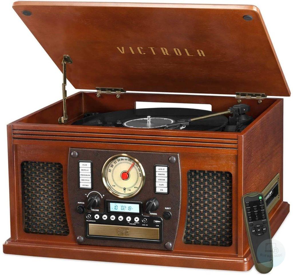 Victrola Navigator 8-in-1 - best wooden vintage turntable record player under 200
