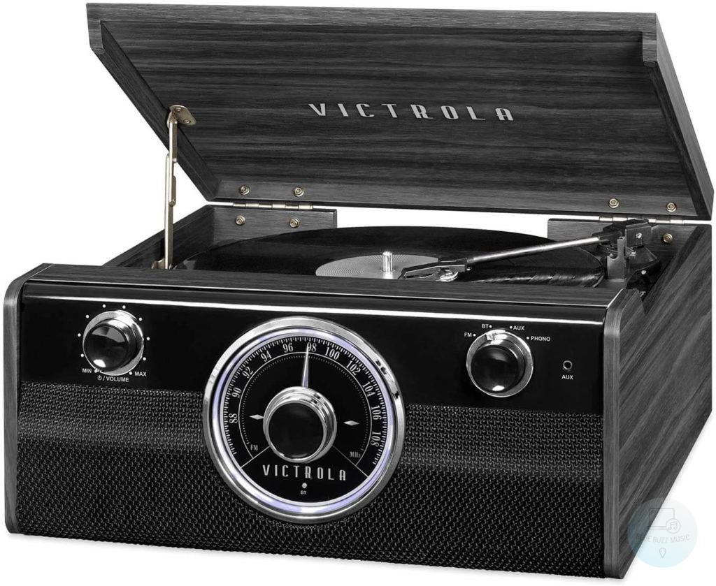 Victrola Wood Metropolitan - best retro metal vintage turntable under 200